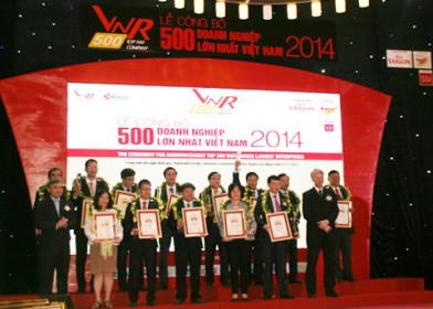 TKV lọt top 500 doanh nghiệp lớn nhất Việt Nam năm 2014