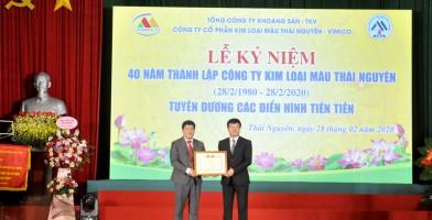Công ty CP Kim loại màu Thái Nguyên – VIMICO kỷ niệm 40 năm ngày thành lập (28/02/1980-28/02/2020)