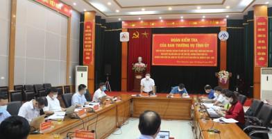 Kiểm tra việc lãnh đạo, chỉ đạo tổ chức học tập, quán triệt, triển khai thực hiện nghị quyết đại hội đảng tại Đảng bộ Công ty CP Kim loại màu Thái Nguyên – Vimico