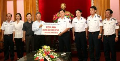 TKV ủng hộ lực lượng Cảnh sát biển và Kiểm ngư Việt Nam 400 triệu đồng